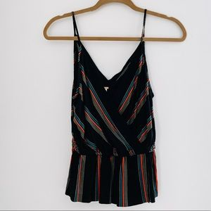 Free People Stripped Tank Top, Size Small